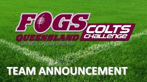 FOGS Colts - Team Announcement