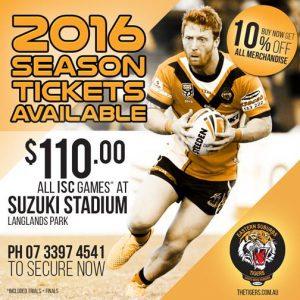 2016 Season Tickets