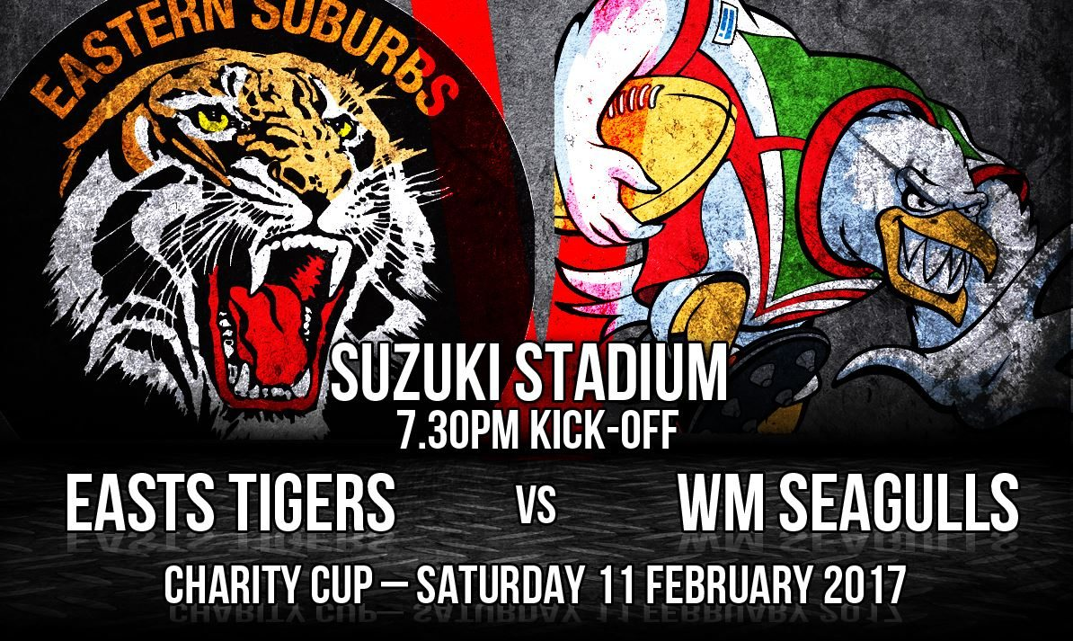 TIGERS AND SEAGULLS TO BATTLE FOR CHARITY CUP