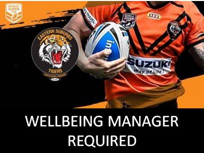 TIGERS SEEKING WELLBEING MANAGER