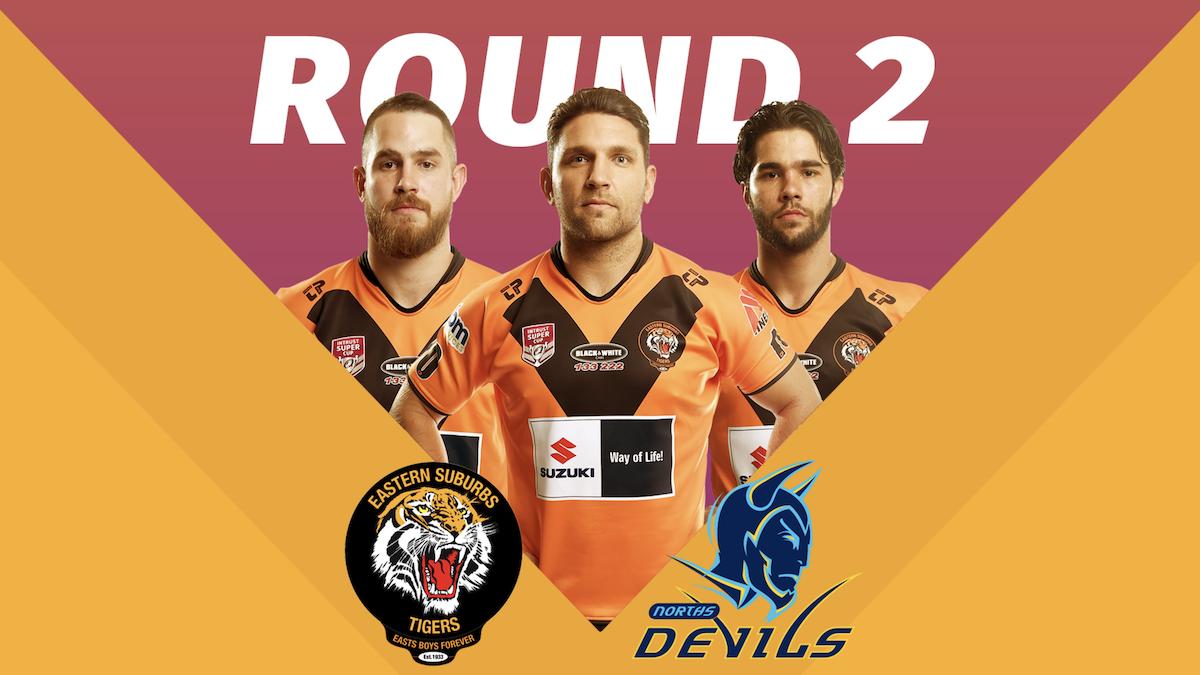 Round 2 Game Day Tigers versus Norths Devils Poster