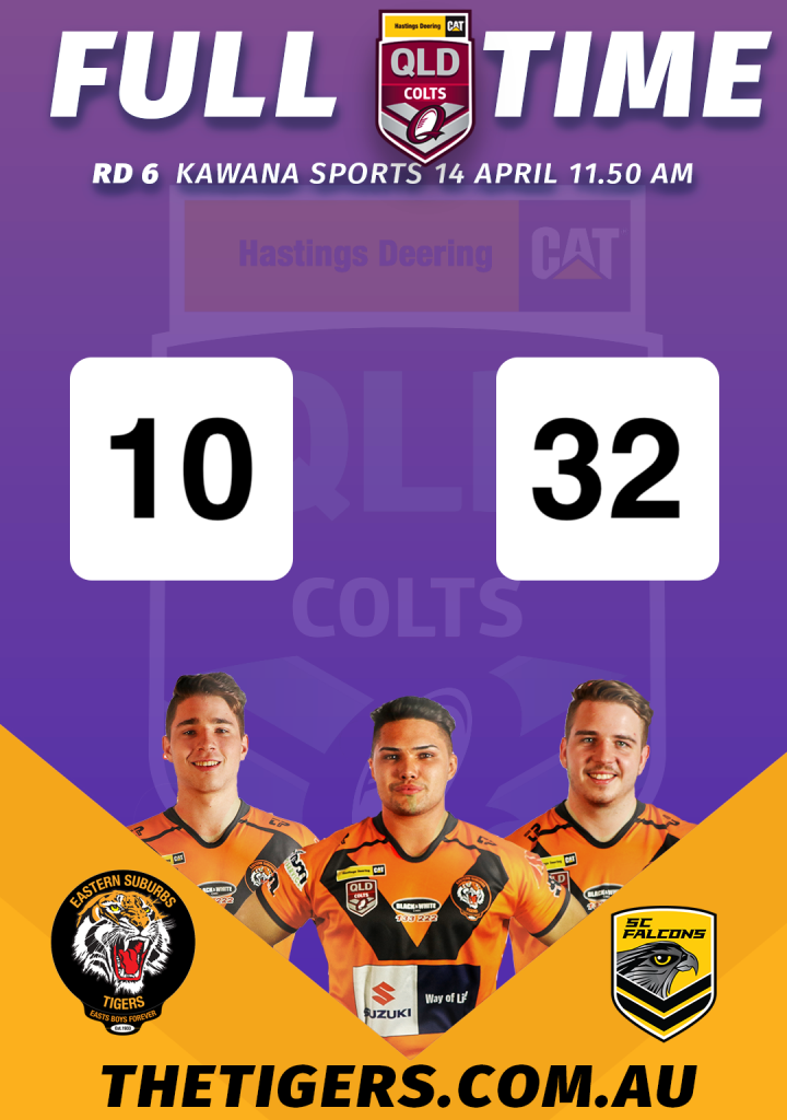 Colts Team Results 14 April 2019