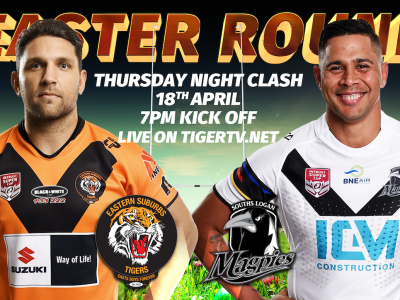 Easter Round ISC Easts Tigers