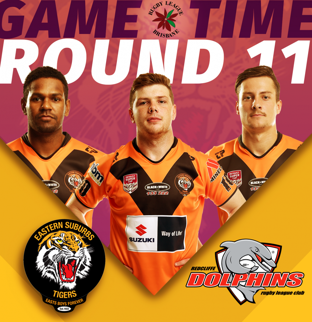 Brisbane Rugby League Easts Tigers versus Redcliffe Dolphins