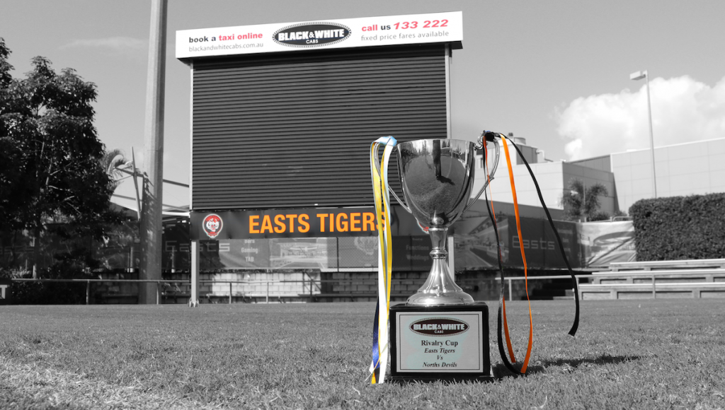 Who's your tip to win the Black & White Cabs Rivalry Cup when the Suzuki Easts Tigers take on cross-river rivals the Norths Devils Rugby League Football Club tomorrow at Langlands Park.
