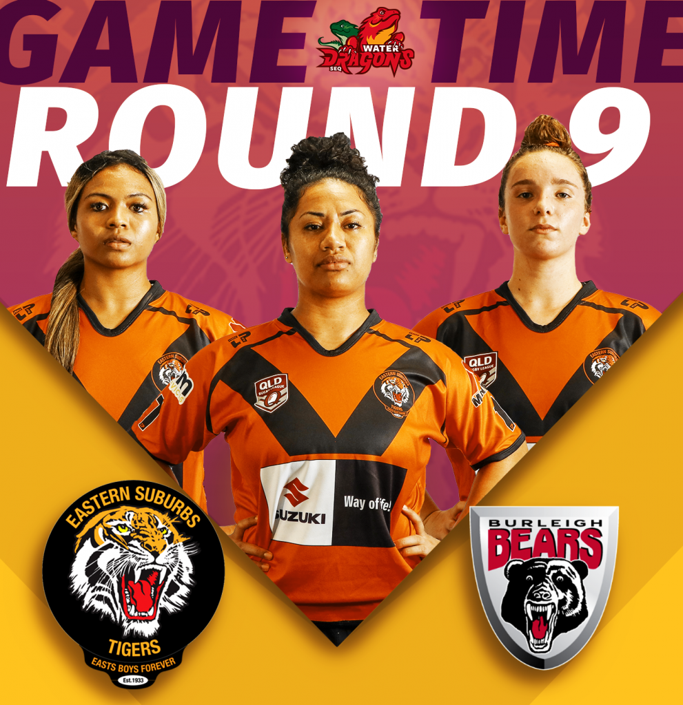 Womens Senior Division Easts Tigers versus Burleigh Bears