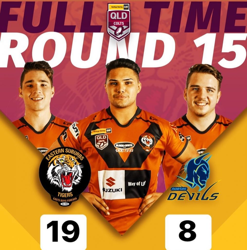 Round 15 Hastings Deering Colts Game Day Results Easts Tigers versus Norths Devils, Tigers winning 19 to Devils 8