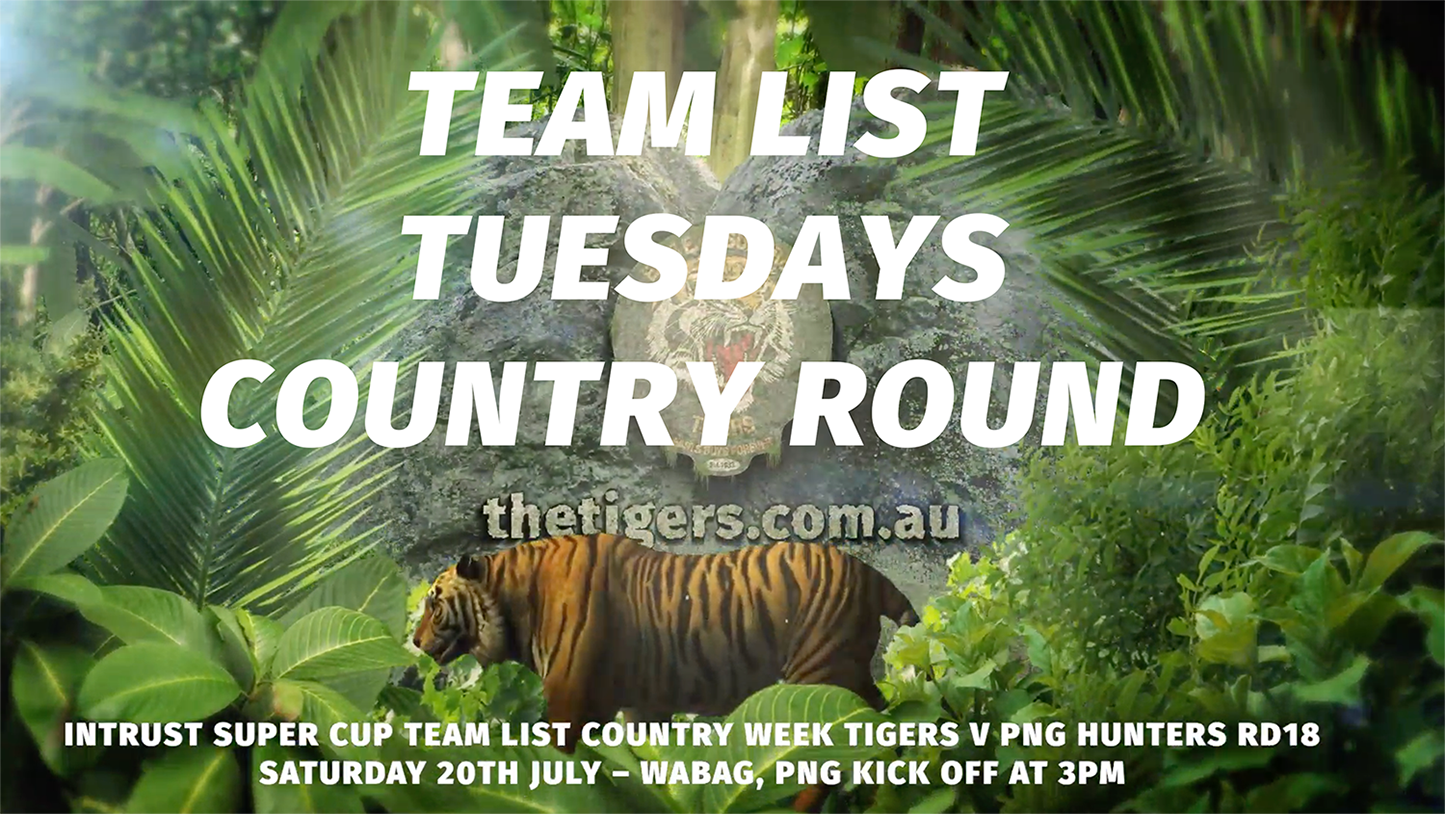 [Country Week ROUND 18 WEEK] Get ready for Country Week Round Round 18 action as Intrust Super Cup Suzuki Easts Tigers fly up to take on the PNG Hunters with kick off at 2pm, in Wabag, Papua New Guinea, Sat 20th of July, Also it's Round 18 of the Hastings Deering Colts Easts Tigers is a bye round, For BRL A Grade Easts Tigers also have a bye this week, With the final round of the competition, Round 14 for the Tooth Smart Dental Easts Tigers Womens Snr Div 1 set to face Toowoomba Valleys with kick off at 6pm, at Leo Williams Oval, Carina Leagues Club, Sat 20th of July, @IntrustSuperCup @PNG_Hunters @CarinaTigers #GoTheTigers #Season2019 #EBF #EGF #PNG #PNGHUNTERS #Countrylife #JETSETTING #QLDER 🧡🖤