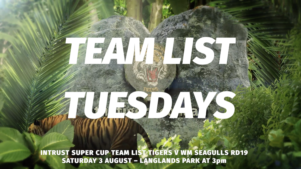 Team List Tuesdays Rd 19 Suzuki Easts Tigers V WM Seagulls