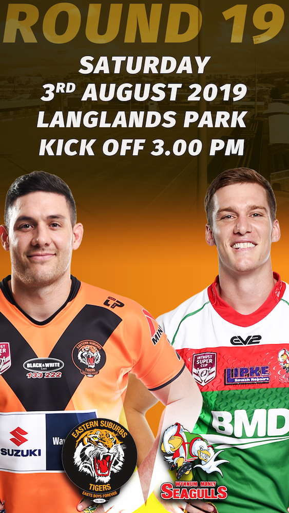 Rd 19 Sat 3rd August at Langlands Park, Kick of 3pm