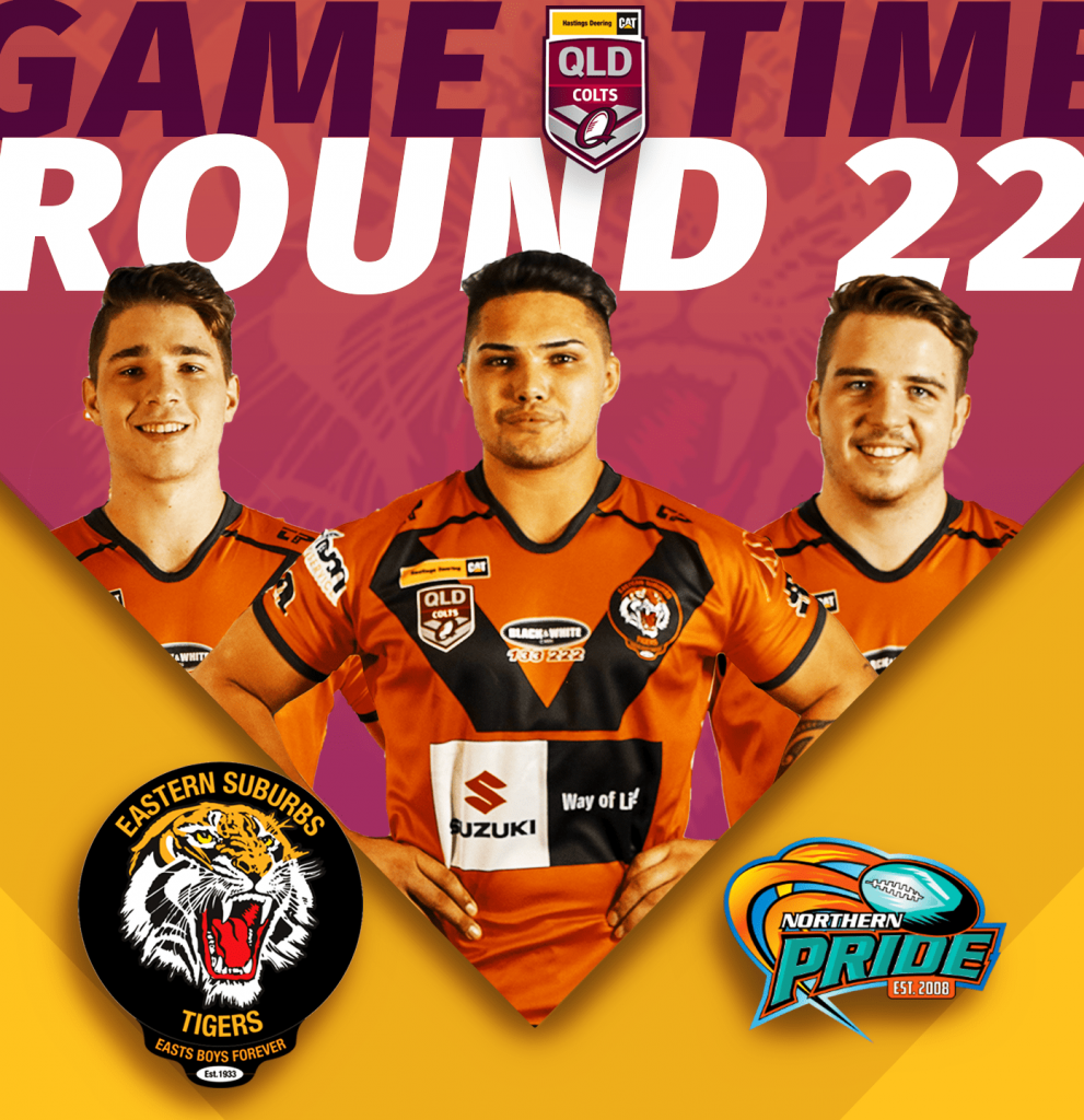 HDC u20s Easts Tigers taking on Northern Pride at Barlow Park in Cairns, kick off 4.20pm, Saturday 24th of August