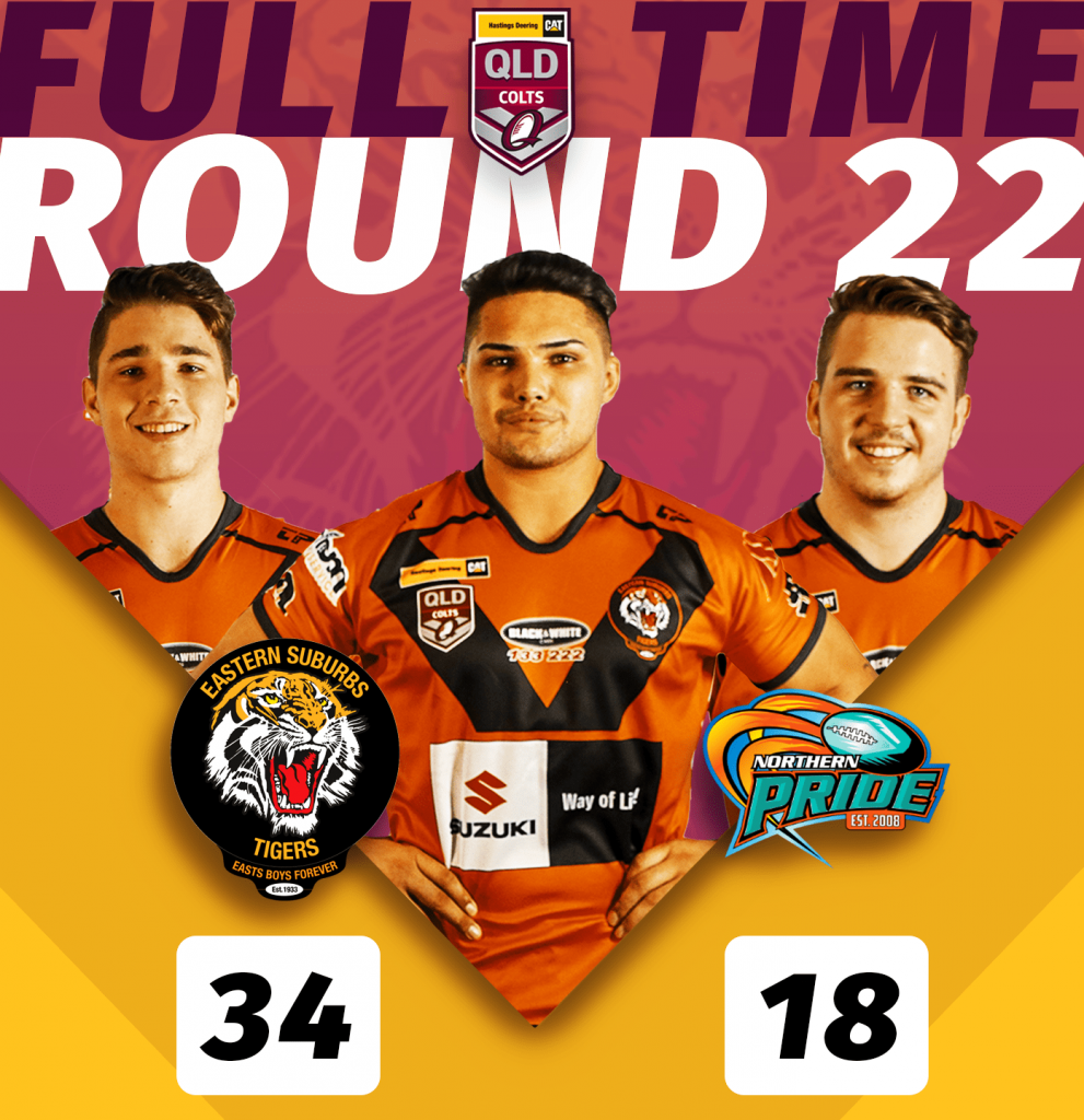 HDC Easts Tigers won over Northern Pride at Barlow Park in Cairns, game was held on Saturday 24 August, kick off was 4.20pm, Tigers 34 def Pride 14 ;