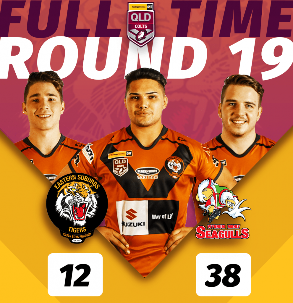 [HASTINGS DEERING COLTS U20s RESULT] Round 19 finished up the Hastings Deering Colts U20s Easts Tigers, who fought hard, but came second best to Wynnum Manly Seagulls, at Langlands Park, Full time score Tigers 12 loss to Seagulls 38. Half time score was Tigers 6 - Seagulls 10. #GoTheTigers #Season2019 #EGF #ORANGEandBLACK #EBF #wynnummanly #wynnumseagulls #wynnum #manly #bayside #redcliffe #peninsula #redcliffedolphins #dolphins #rugbyleague #rugby #footy #QLDER