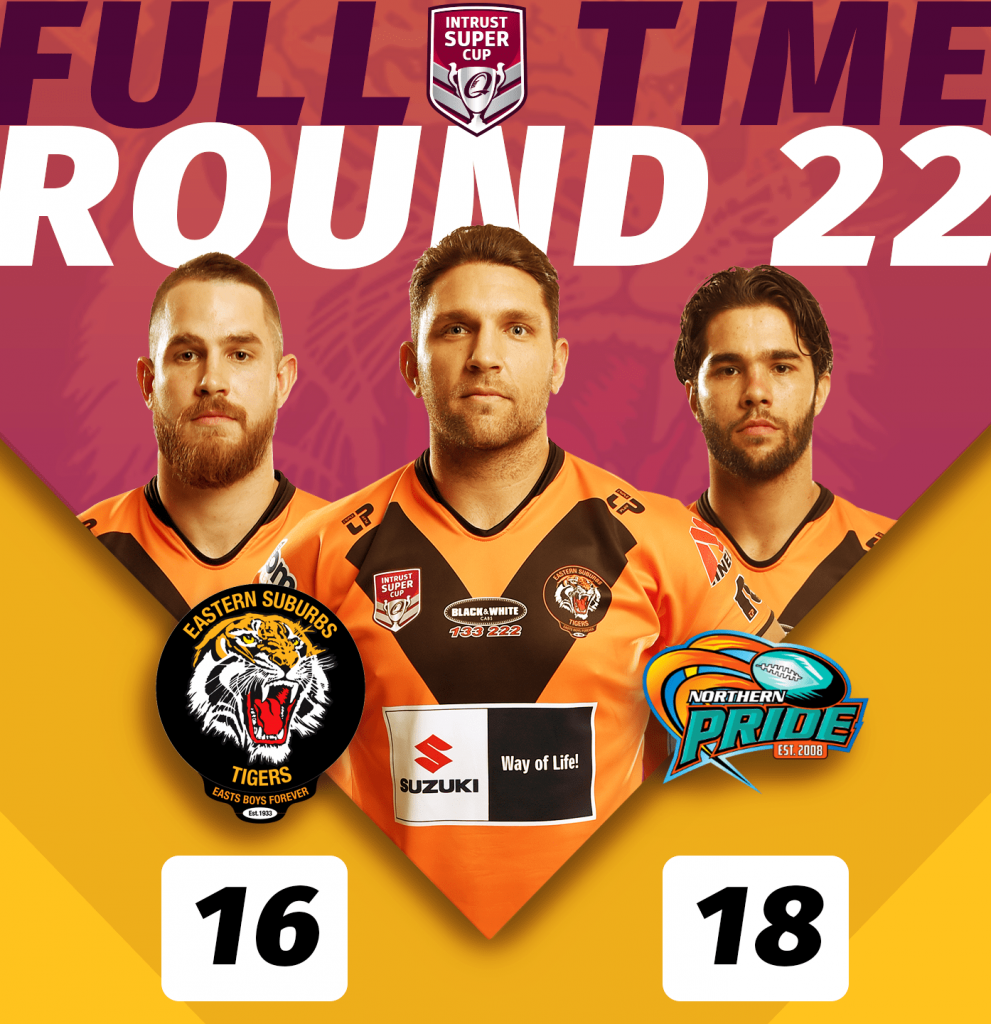 ISC Easts Tigers lost to Northern Pride at Barlow Park in Cairns, game was held on Saturday 24 August, kick off was 6pm, Pride 18 def Tigers 16;
