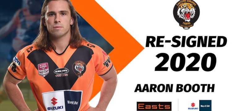 Aaron Booth Re-signs with Easts Tigers