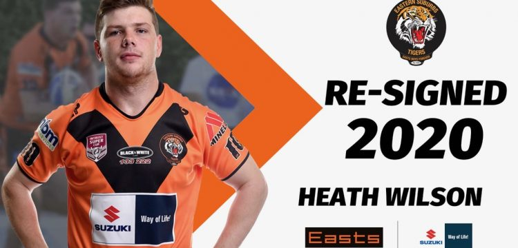 Heath Wilson Re-signs with Easts Tigers