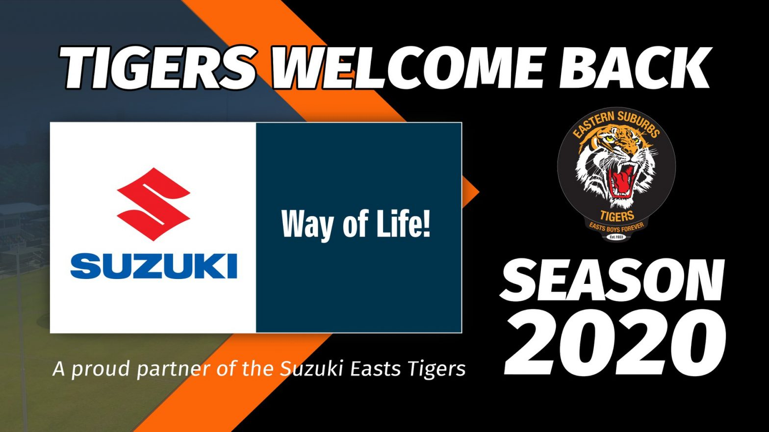 The Easts Tigers welcome back our long-time partner Suzuki Queensland as our Principal Partner for the 2020 Season