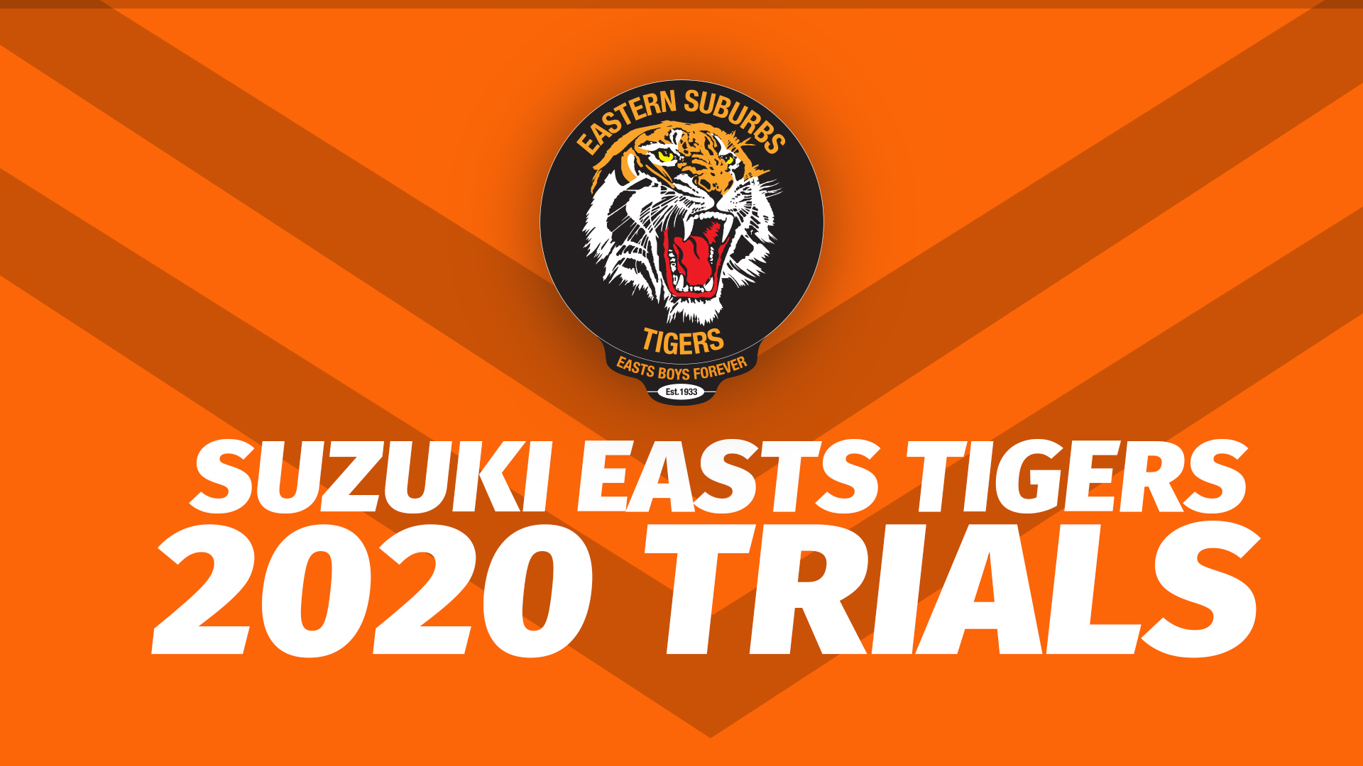 Suzuki Easts Tigers 2020 Trials cover