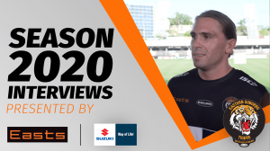 Aaron Booth Interview with Easts Tigers TigerTV