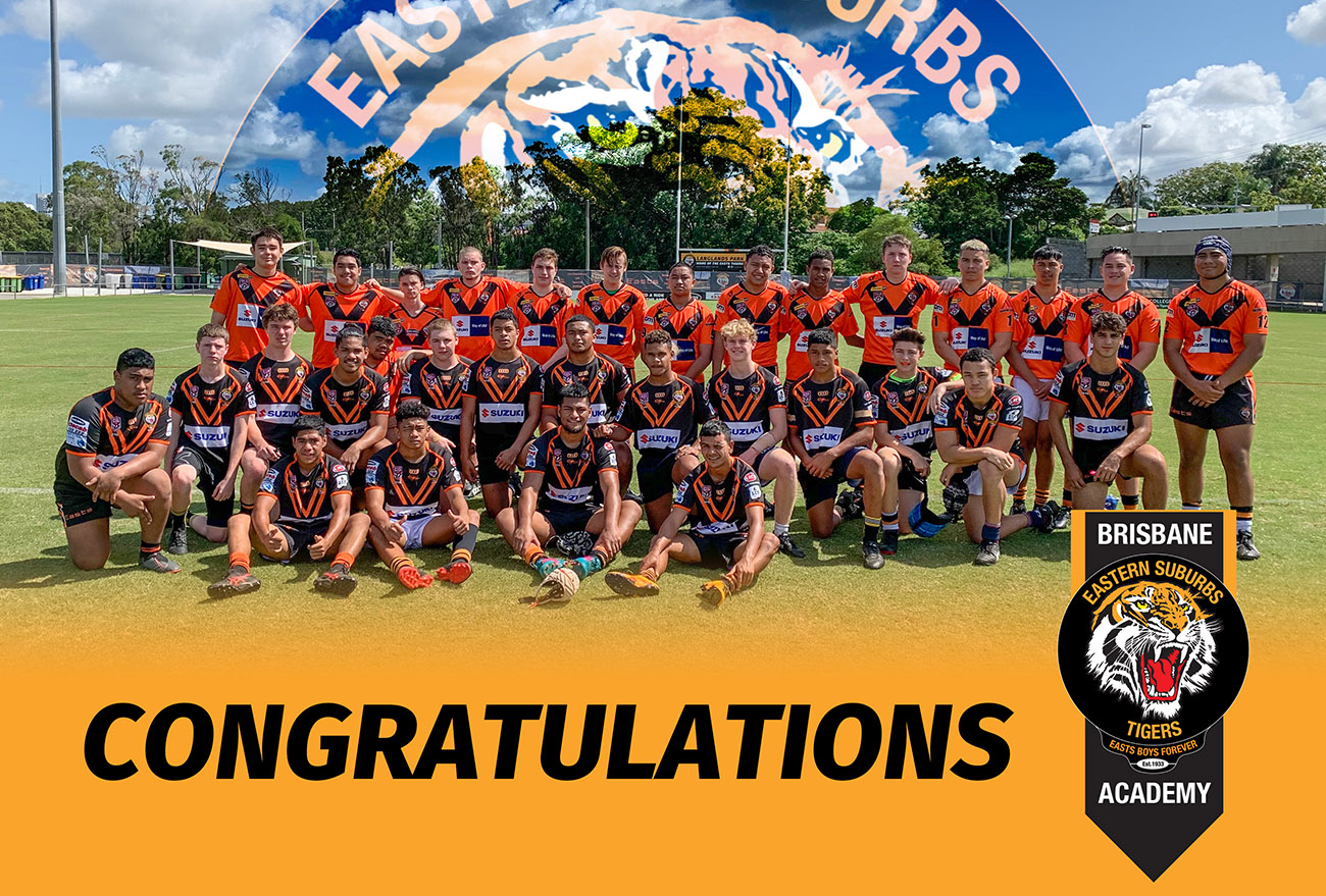 Congratulations to Easts Tigers Brisbane Academy Squad named