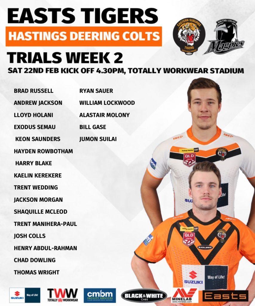 Colts 2020 Trials Week 2 Teamlist