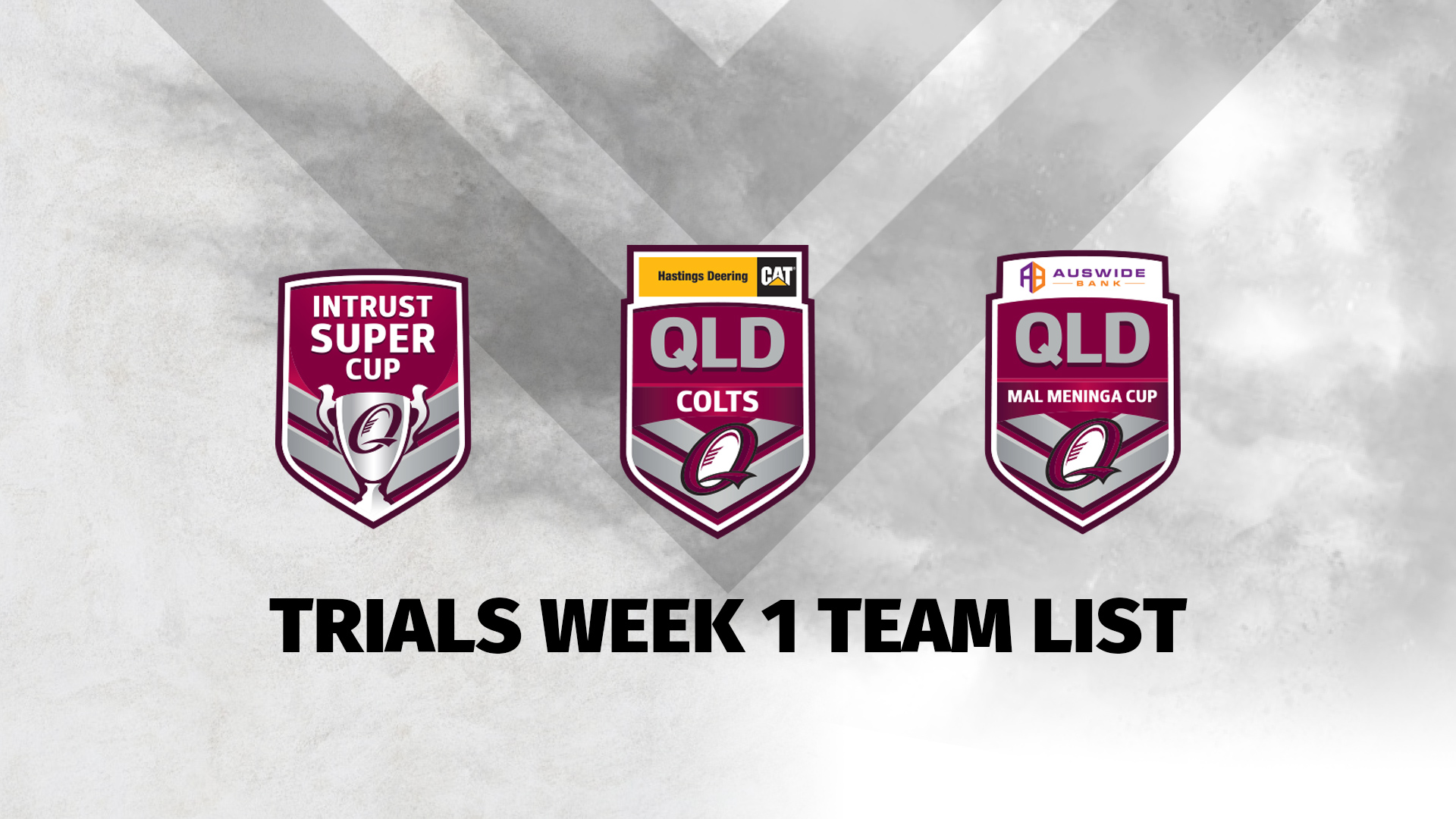 2020 Trials Week 1 Team List