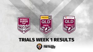 Weekend Results Trials Week 1 2020