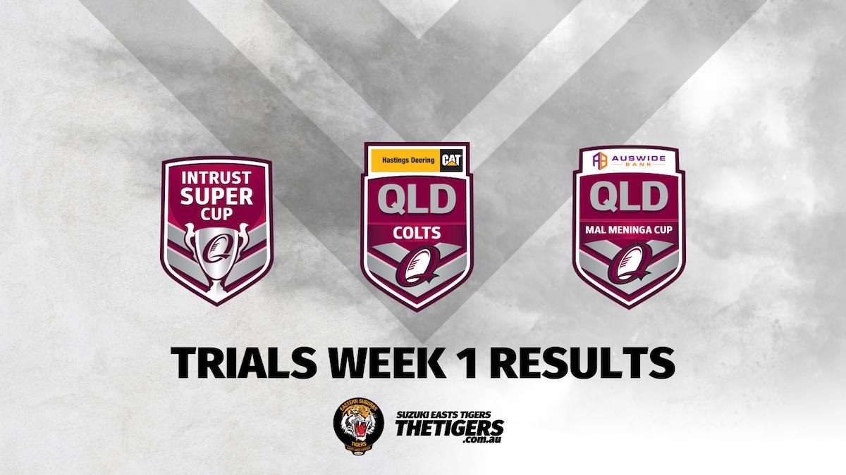 Weekend Results Trials Week 1 2020