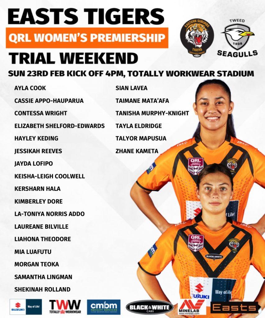 Womens 2020 Trials Week 2 Teamlist