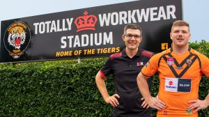 Matt Heath Totally Workwear Stadium Sign